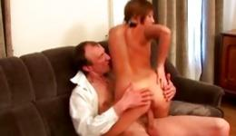 Sexy chick with adorable slim body getting her amazing holes poured with cock
