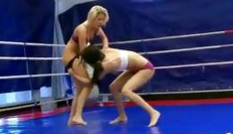 You should see this nasty fighter licking the clit of her princess