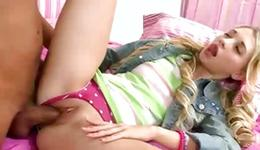 Bright-haired badly behaved doxy is getting her fucked by inhumane boyish nature role play