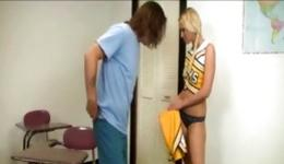 You should see this prurient young woman flirting with her strict chap