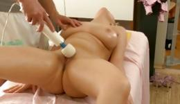 Sweet blonde loves getting her boobs massaged on and masturbated
